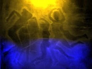 mujeres bailando bajo la luna G.Sitja